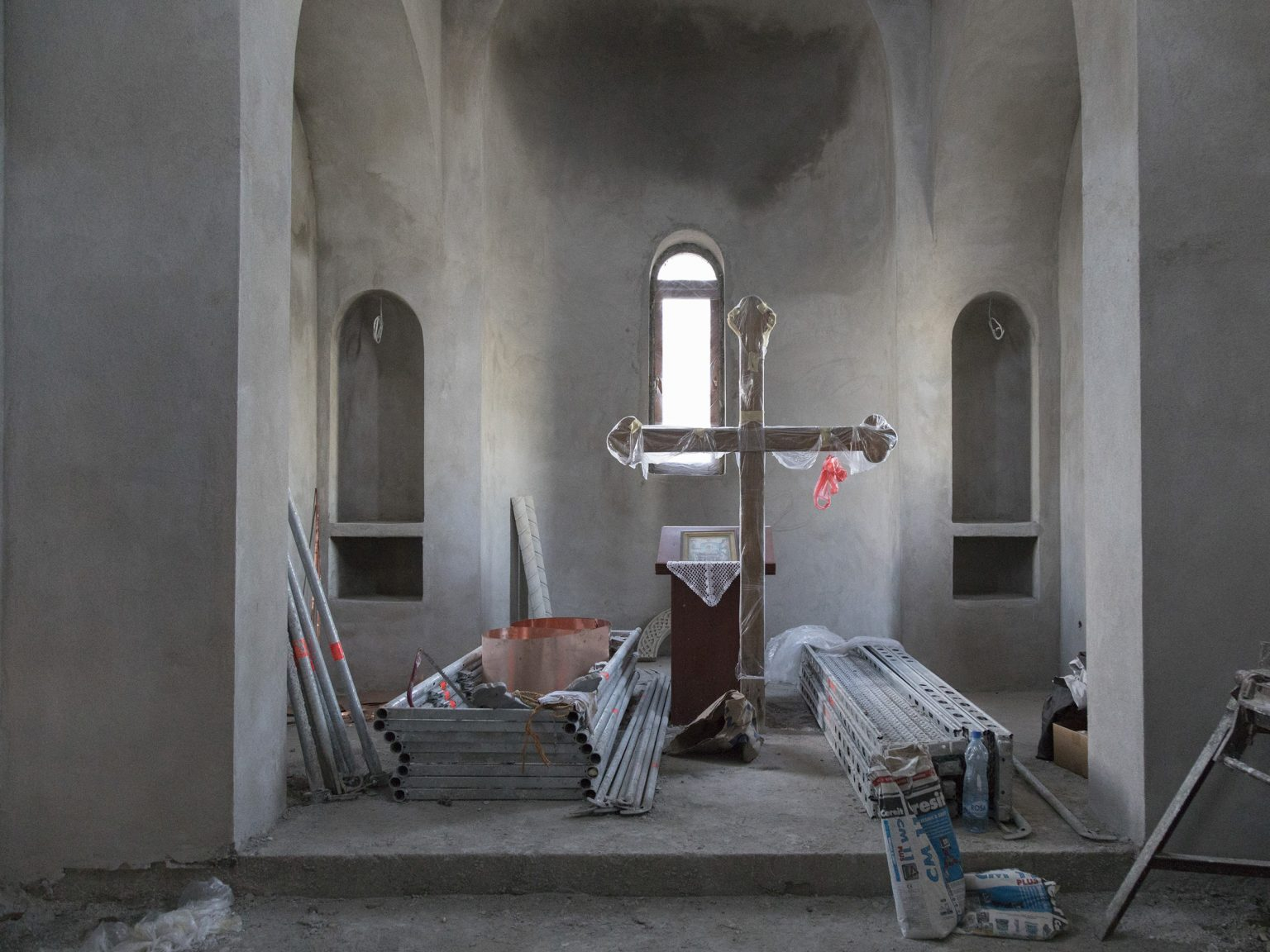 A new Orthodox church is being built on the hill above the city of Leposavić/Leposaviq in North Kosovo. Leposavić/Leposaviq has the highest density of Serbs in Kosovo.