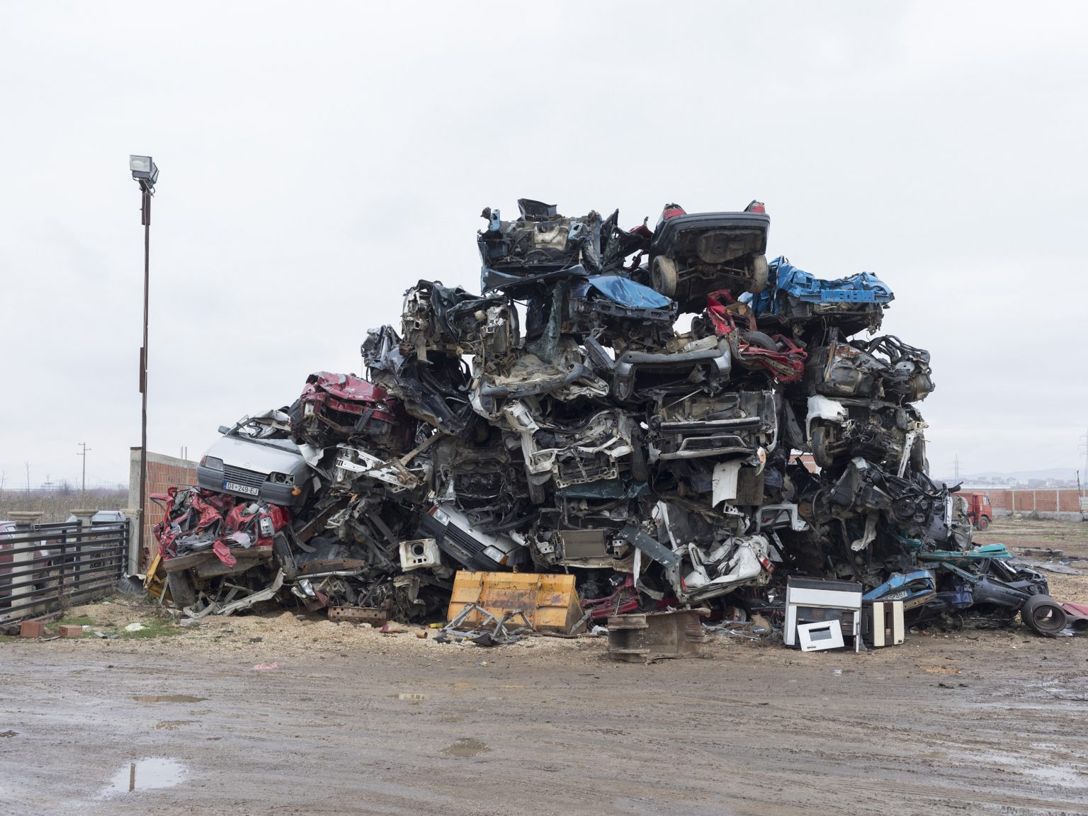 A junkyard run by Romas. The Roma community is one of the minorities living in Kosovo.