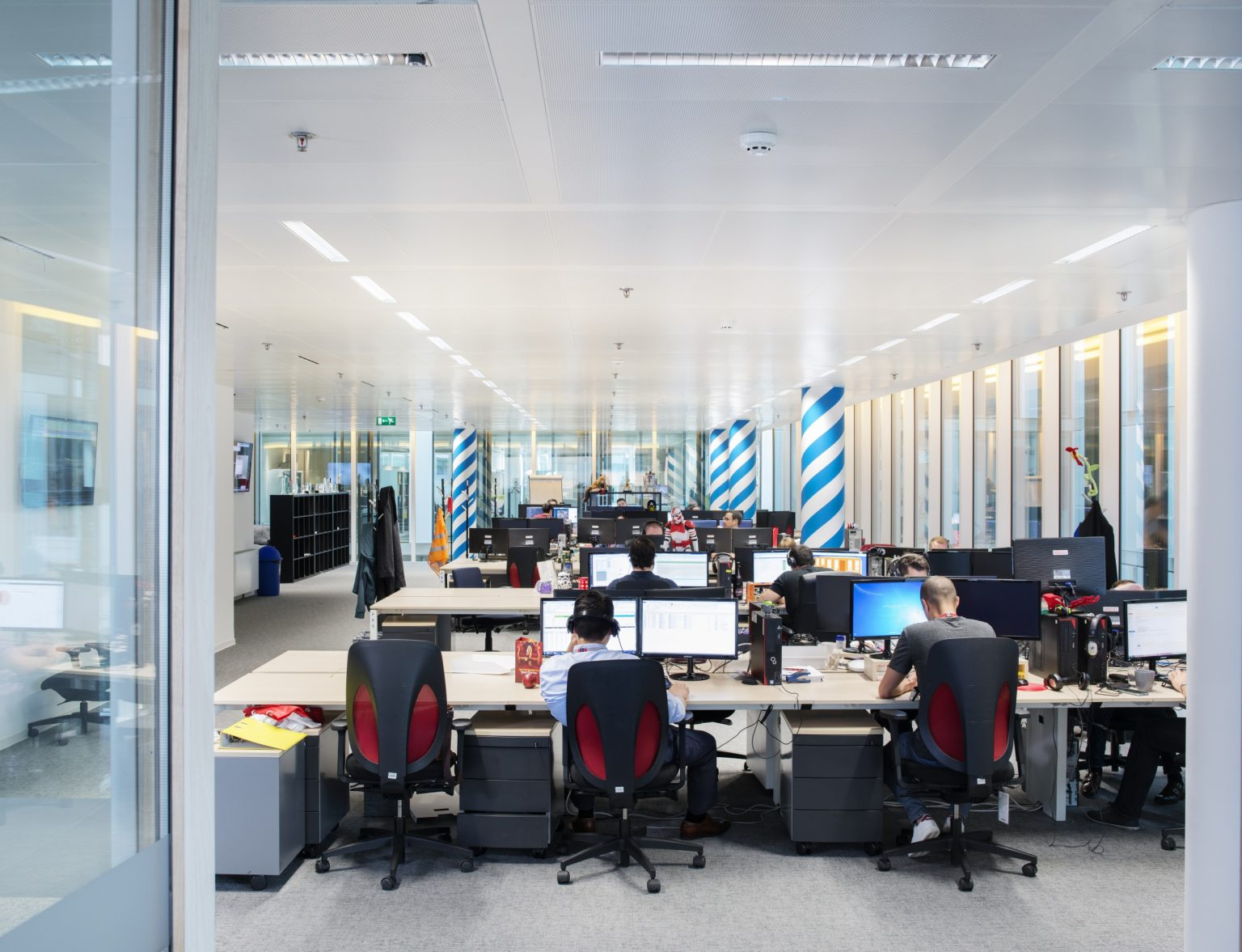 Grand Duchy of Luxembourg, Luxembourg City, July 2016: an interior view of the marketing department in the head quarter's office of Live Jasmine. Founded in Hungary in 2001 Live Jasmin is currently the largest platform provider in the Video chat industry: with 10.000 models online which can earn up to 50,000 euros per day, the web site - with HQ in Luxembourg and offices in Budapest, Los Angeles Amsterdam and Hong Kong- is ranking globally the number one in the industry for earnings, cam operations and number of visitors (35 millions per day). / Gran Ducato di Lussemburgo, Lussemburgo, Luglio 2016: una veduta interna dell'ufficio marketing presso il quartier generale di Live Jasmine . Fondato in Ungheria nel 2001, Live Jasmin è attualmente il principale sito dell'industria delle Video Chat erotiche; con 10.000 modelle online al giorno che possono arrivare a guadagnare fino a 50,000 euro al giorno, il sito - con quartier generale a Lussemburgo e uffici a Budapest, Los Angeles, Amsterdam e Hong Kong - è il numero uno al mondo nel settore per guadagni, numero di cam operations e di visitatori (35 milioni al giorno).