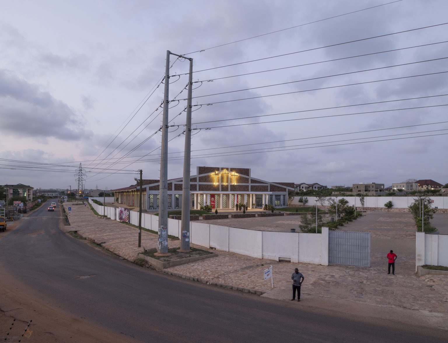 "Legon (Accra), Greater Accra Region, Republic of Ghana, April 2019 - Exterior view of ""Qodesh Family Church, The Qedesh"", a Lighthouse Chapel International branch located in East Legon Hills and inaugurated in 2017. Lighthouse Chapel International(LCI), founded in 1988 byDag Heward-Millsand headquartered inAccra it is considered to be one of the leading charismatic churches inGhana, and has over 3000 branches in over 50 countries inAfrica,Europe,Asia, theCaribbean,Australia, theMiddle Eastand theAmericas. Lighthouse Chapel International is one of the largest of the Pentecostal churches that have appeared since the late 1970s in cities in Africa. Its founder is nowadays considered among the richest pastors in Ghana. ><  Legon (Accra), Grande Regione di Accra, Repubblica del Ghana, aprile 2019 - Veduta esterna della ""Qodesh Family Church, The Qedesh"", sede della Lighthouse Chapel International situata a East Legon Hills ed inaugurata nel 2017. Lighthouse Chapel International (LCI), fondata nel 1988 da Dag Heward-Mills e con sede ad Accra, è considerata una delle principali chiese carismatiche del Ghana e conta oltre 3000 filiali in oltre 50 paesi in Africa, Europa, Asia, i Caraibi, l'Australia, il Medio Oriente e le Americhe. Lighthouse Chapel International è una delle più grandi chiese pentecostali apparse dalla fine degli anni '70 nelle città dell'Africa. Il suo fondatore è oggi considerato tra i pastori più ricchi del Ghana."