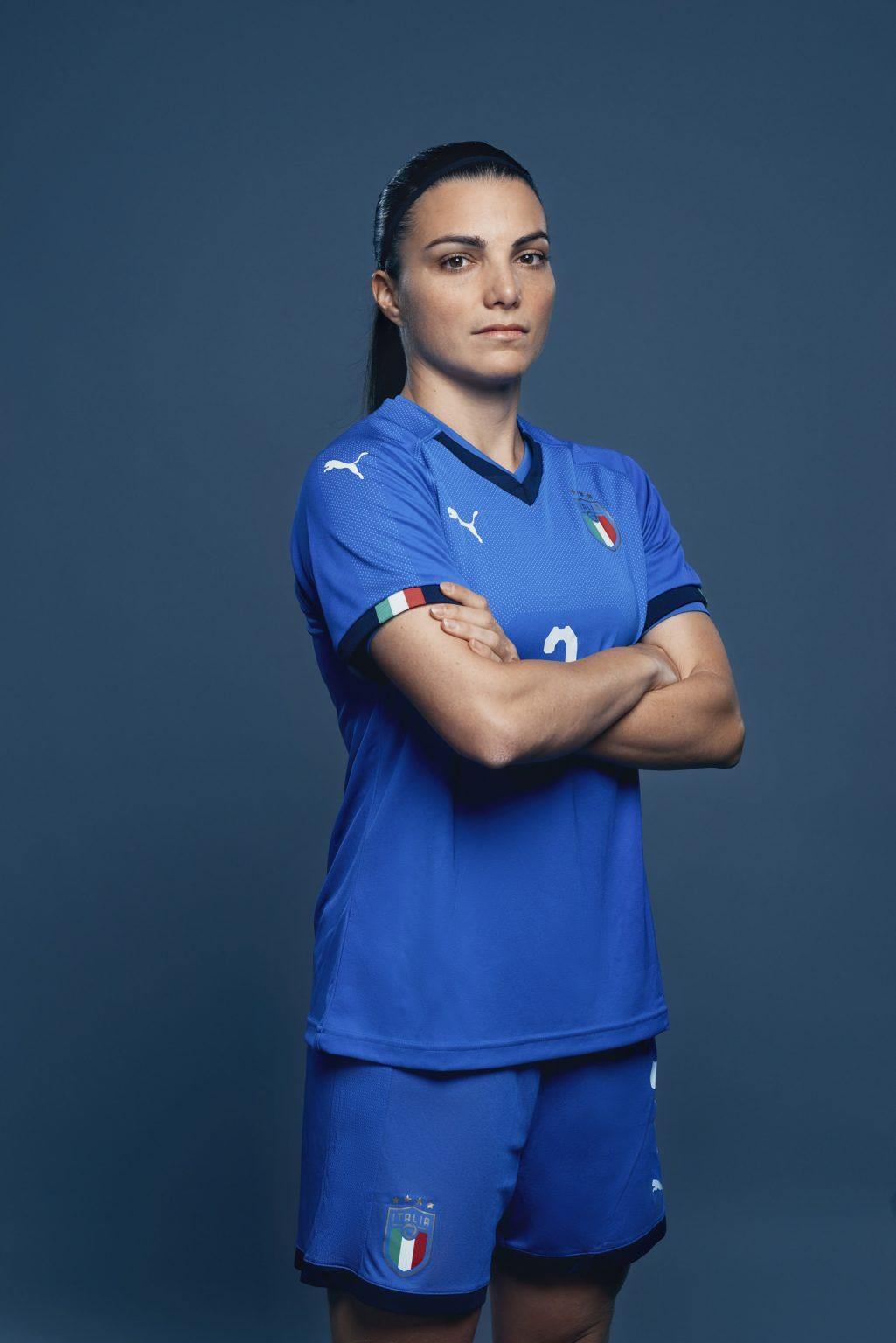 Florence, May 2019 - Alia Guagni, Italy women's national football team player. >< Firenze, maggio 2019 - Alia Guagni, calciatrice della Nazionale femminile italiana di calcio.