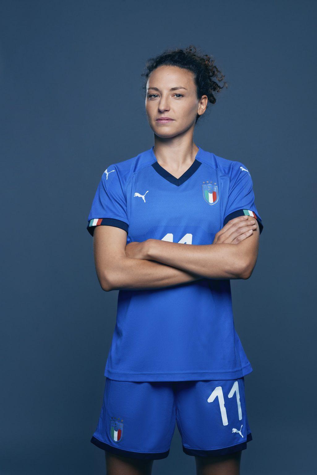 Florence, May 2019 - Ilaria Mauro, Italy women's national football team player. >< Firenze, maggio 2019 - Ilaria Mauro, calciatrice della Nazionale femminile italiana di calcio.