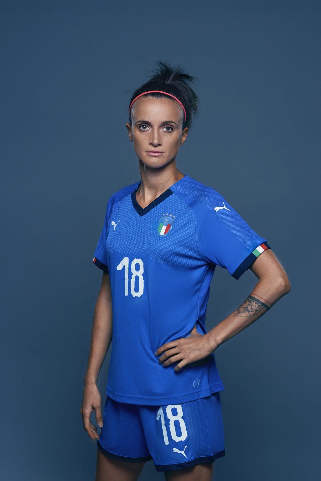 Florence, May 2019 - Barbara Bonansea, Italy women's national football team player. >< Firenze, maggio 2019 - Barbara Bonansea, calciatrice della Nazionale femminile italiana di calcio.