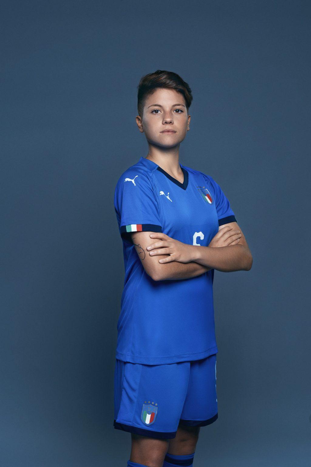 Florence, May 2019 - Manuela Giugliano, Italy women's national football team player. >< Firenze, maggio 2019 - Manuela Giugliano, calciatrice della Nazionale femminile italiana di calcio.