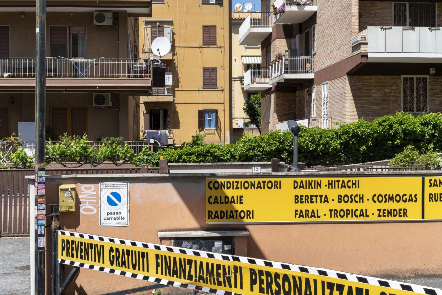 Rome, May 2017 - Via Ennio Bonifazi. Boccea district. >< Roma, maggio 2017 - Via Ennio Bonifazi. Quartiere Boccea.