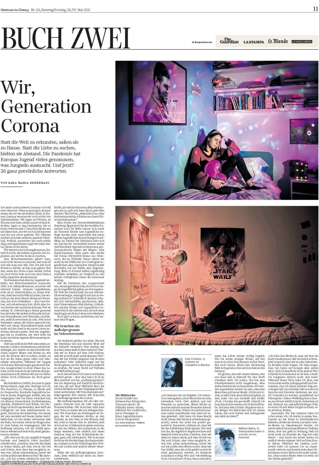 Süddeutsche Zeitung, May 2021
