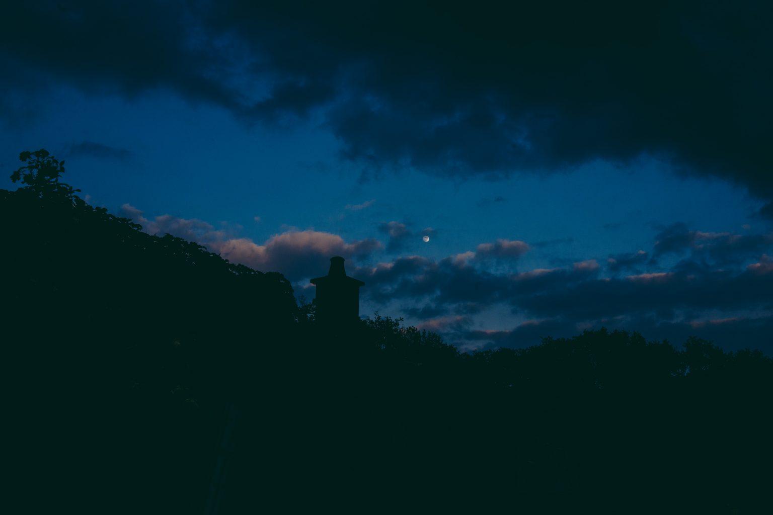 Bonneuil-Matours, France, May 2017 - La Maison Neuve. The former house of Tristan Plot in the night. >< Bonneuil-Matours, Francia, maggio 2017 - La vecchia casa di Tristan Plot nella notte.*** SPECIAL   FEE   APPLIES ***