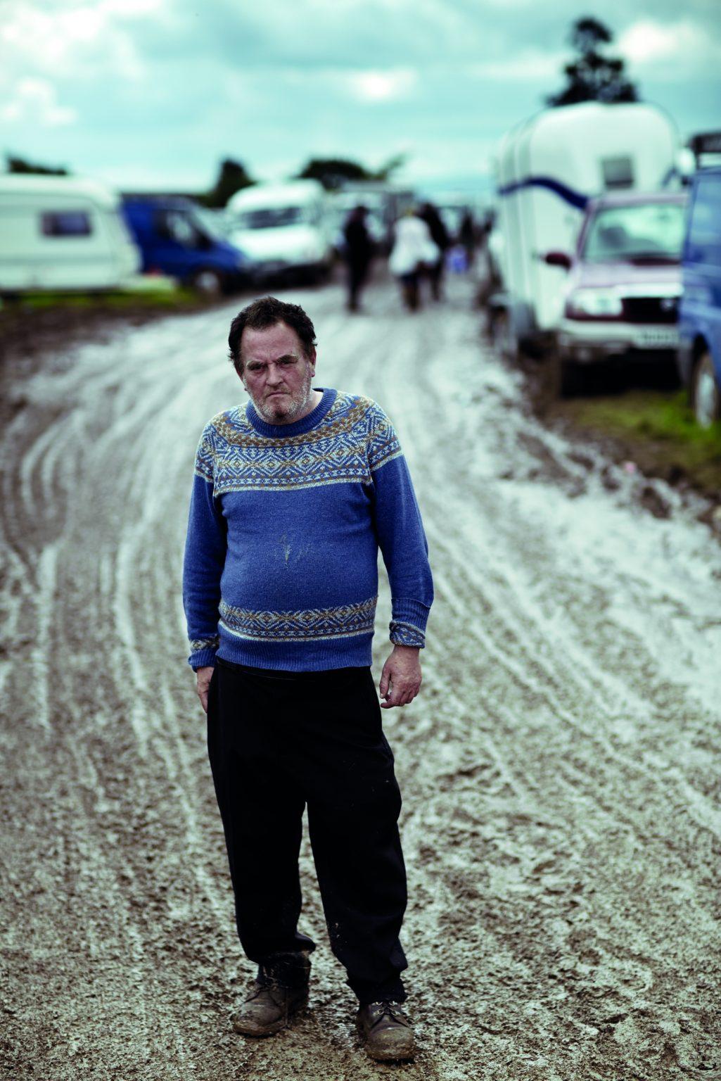 Appleby, United Kingdom, June 2014 - Appleby Horse Fair. Kevin, one of the gypsies gathered for the occasion. ><  Appleby, Regno Unito, giugno 2014 - Appleby Horse Fair. Kevin, uno dei tanti nomadi accorsi per partecipare alla manifestazione. *** Local Caption ***