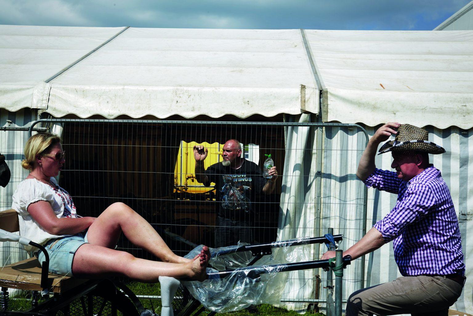 Appleby, United Kingdom, June 2016 - Appleby Horse Fair. Sunday afternoon at the Fair. ><  Appleby, Regno Unito, giugno 2016 - Appleby Horse Fair. La domenica pomeriggio alla fiera. *** Local Caption ***