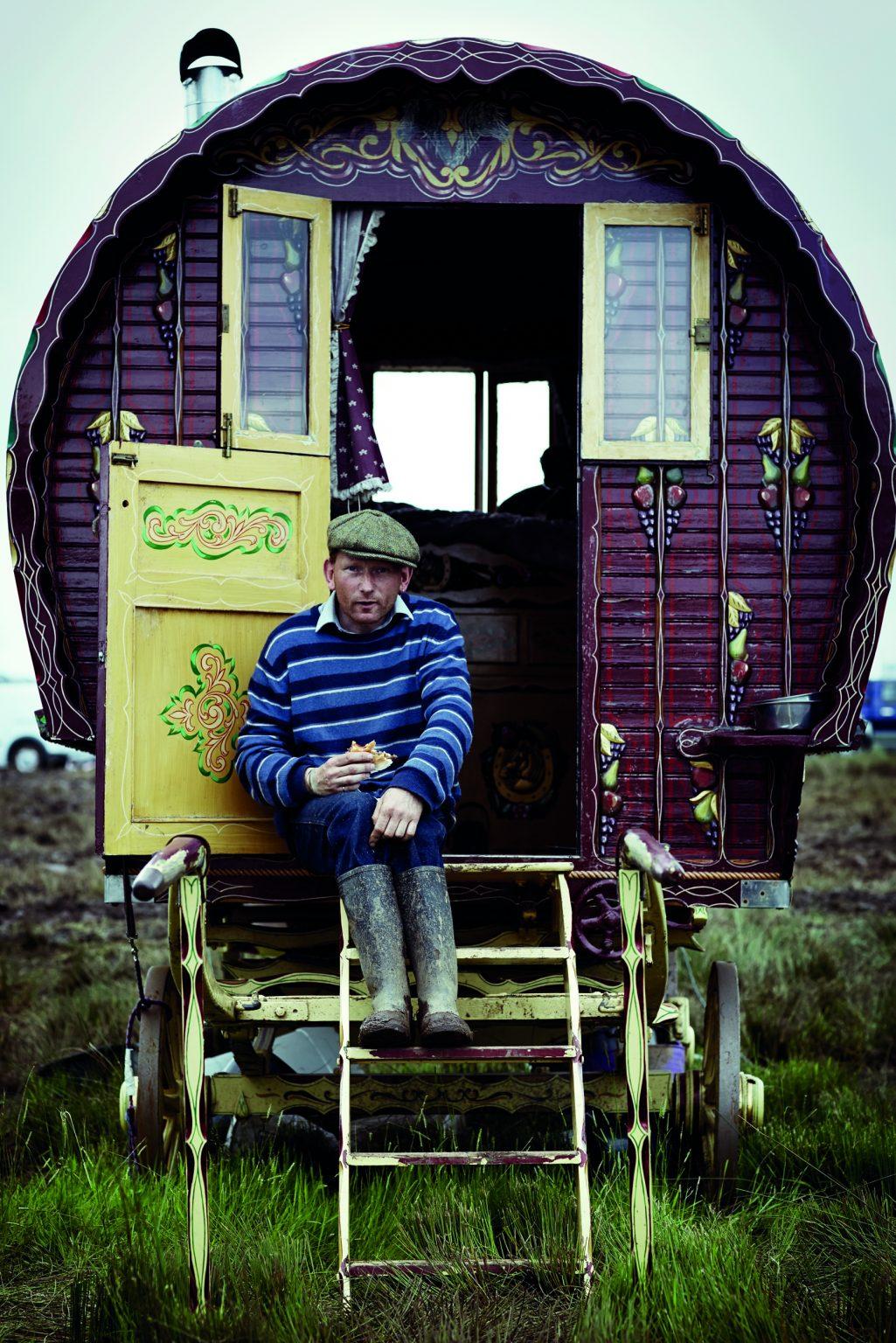 Appleby, United Kingdom, June 2014 - Appleby Horse Fair. Tin, a nomad gypsy. ><  Appleby, Regno Unito, giugno 2014 - Appleby Horse Fair. Il gitano Tin. *** Local Caption ***