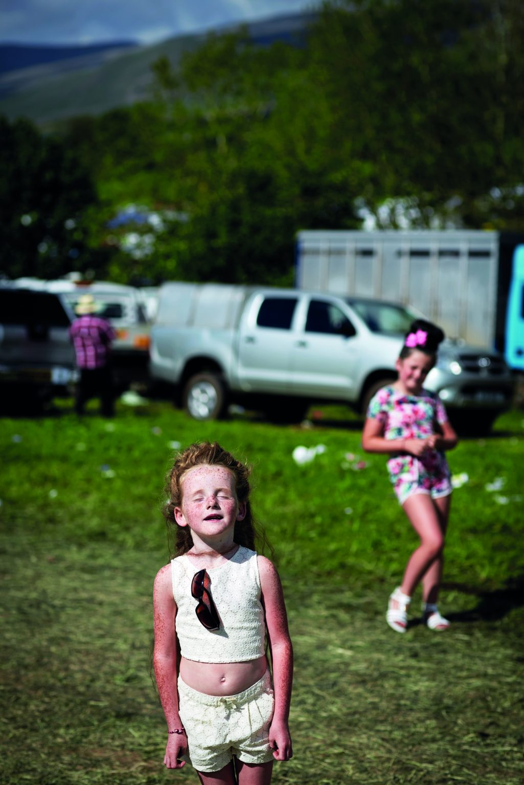 Appleby, United Kingdom, June 2015 - Appleby Horse Fair. Irene and Leona. ><  Appleby, Regno Unito, giugno 2015 - Appleby Horse Fair. Irene e Leona. *** Local Caption ***