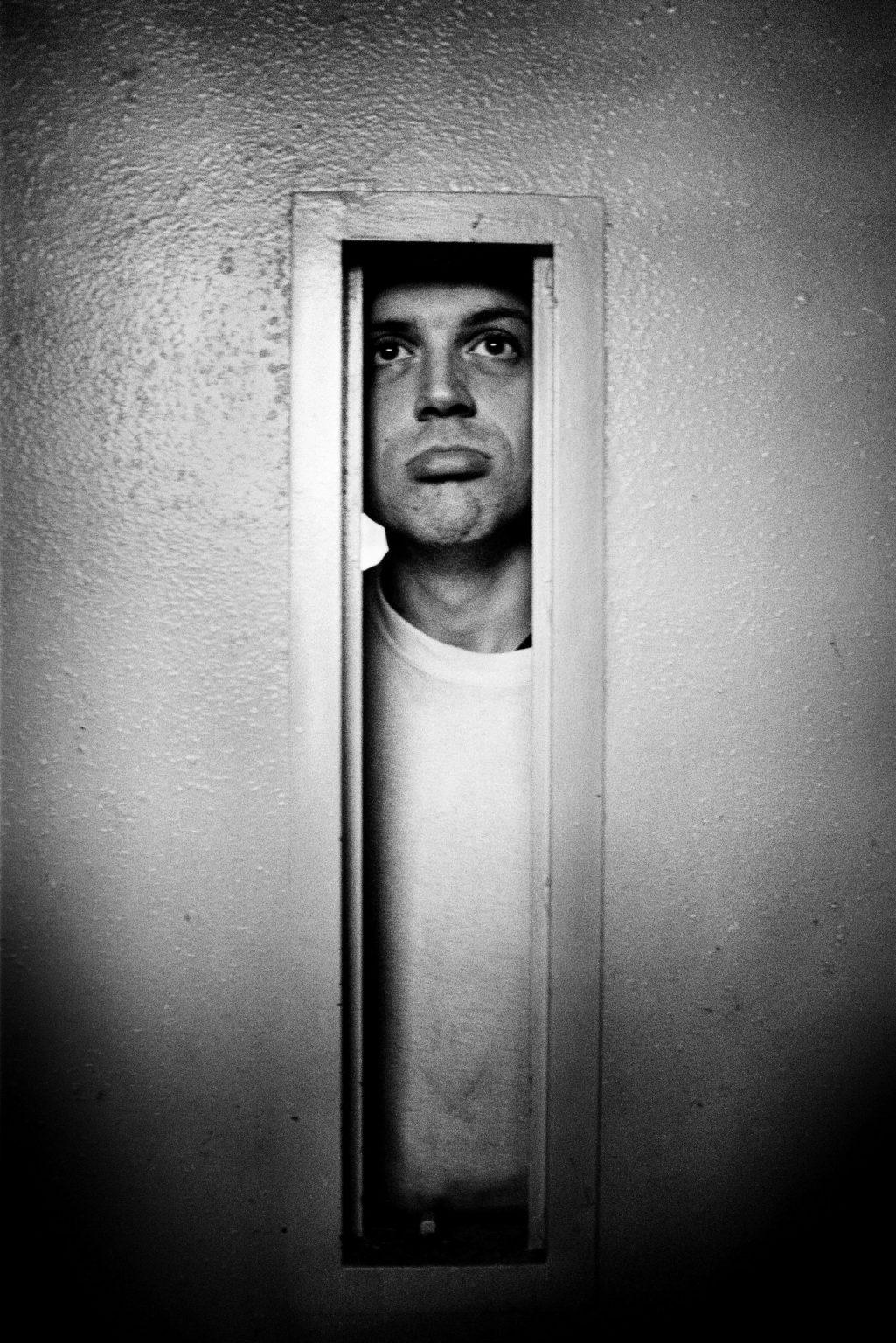 "Aversa ( Caserta ), January 2007 - The Judicial Psychiatric Hospital ""Filippo Saporito"" - An inmate in his cell"