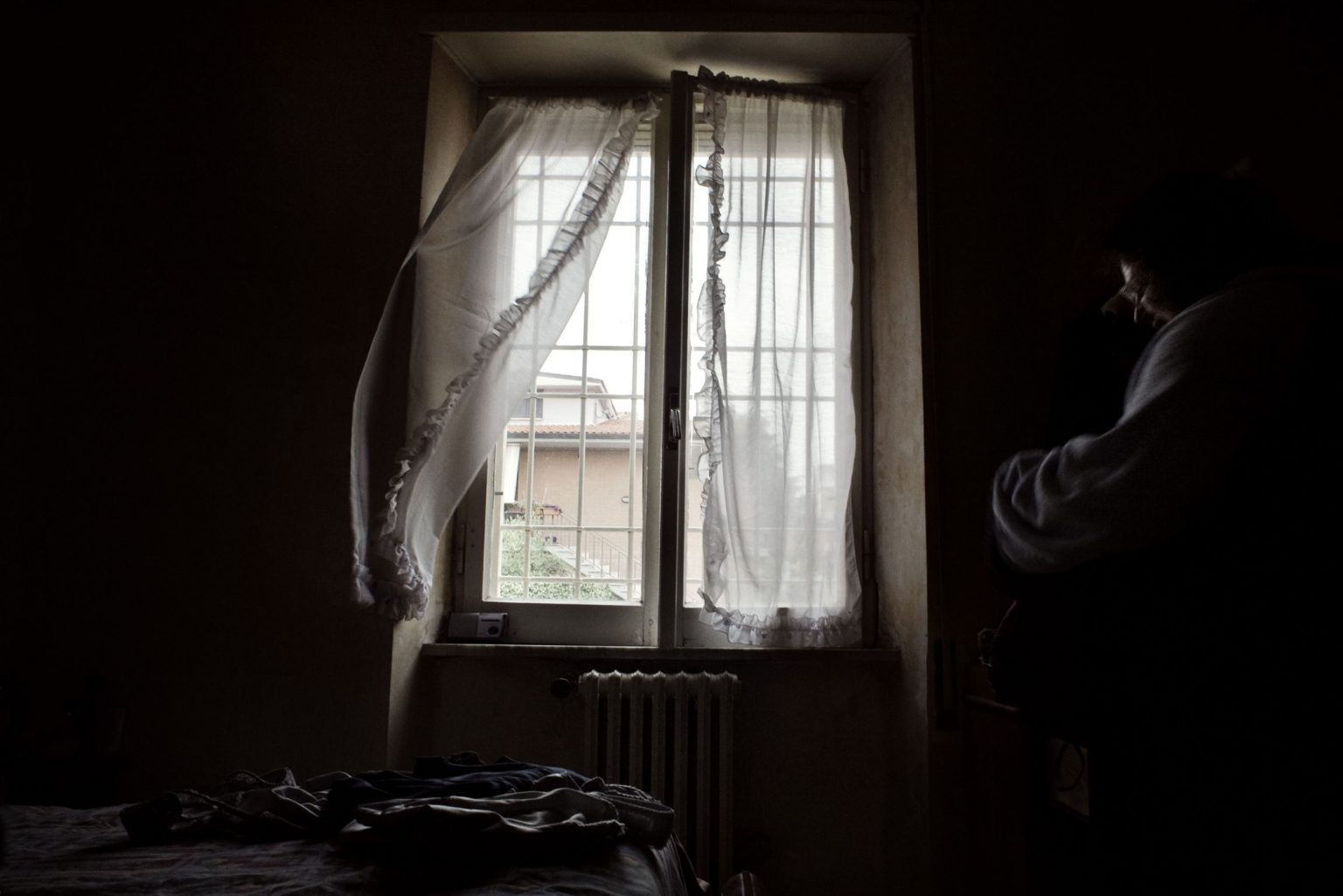 San Cesareo (Rome), January 2008 - The window of the Angela's room, a girl suffering from a serious obesity