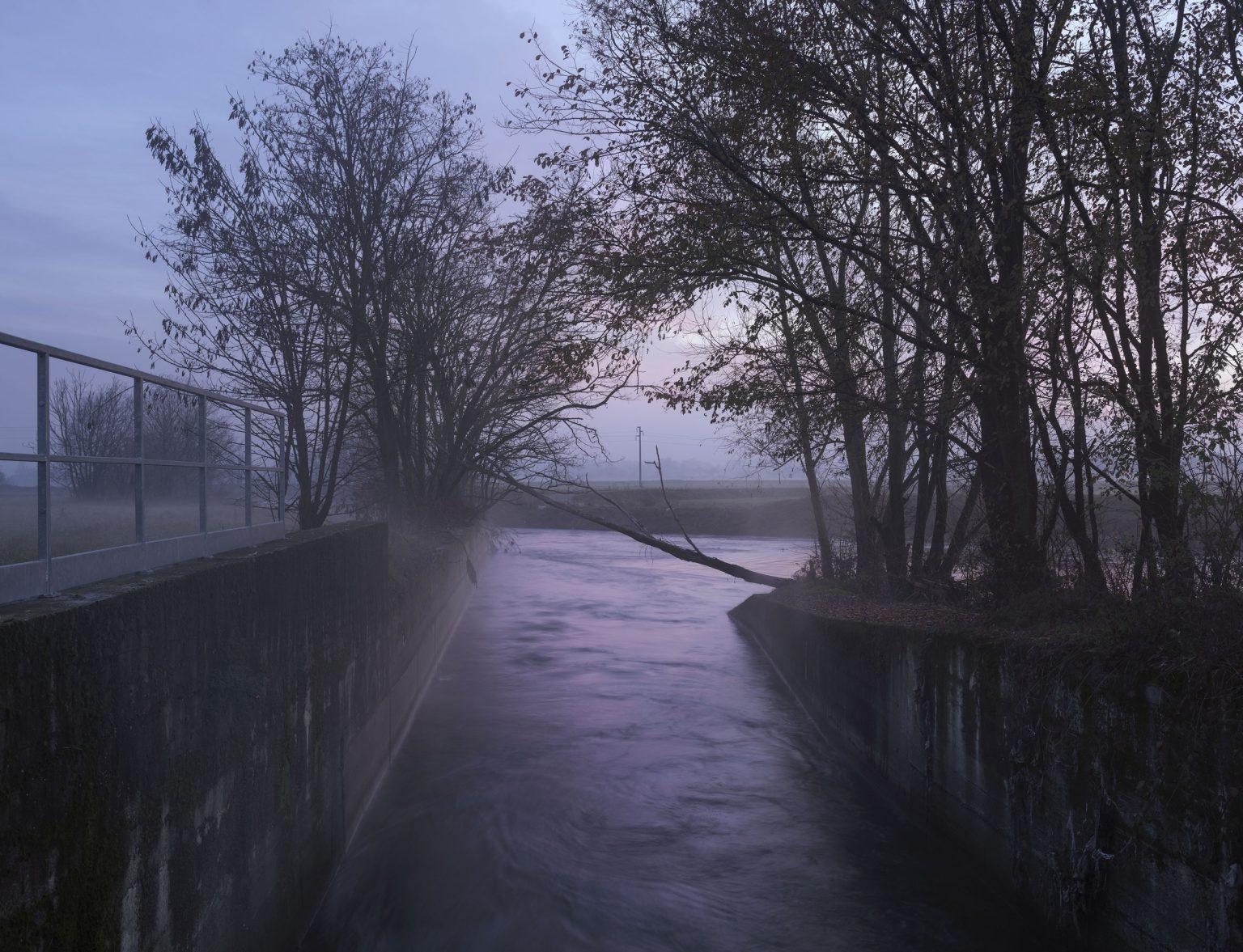Peschiera Borromeo (Milan), December 2017 - Purifier waste water at the Lambro river. >< Peschiera Borromeo (Milano), dicembre 2017 - Canale di scarico delle acque reflue depurate nel Lambro.   *** Local Caption *** 01127425