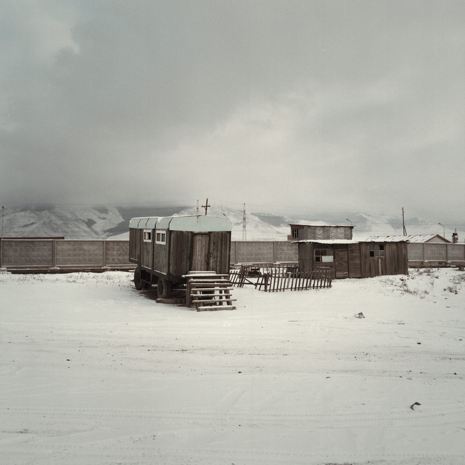 Mongolia, Ulaanbaatar, novembre 2013  Zona industriale
