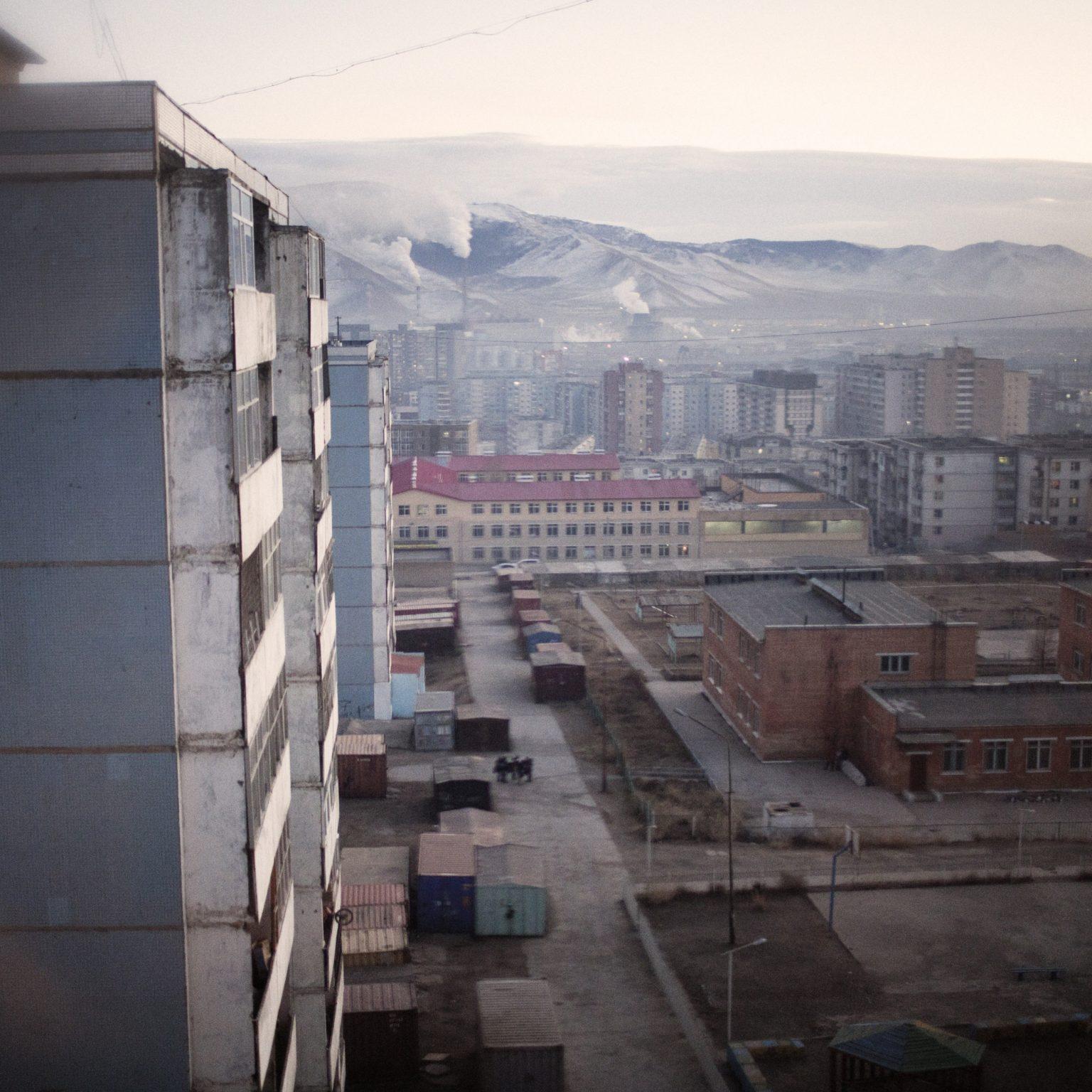 Mongolia, Ulaanbatar, novembre 2013 >< Visione del distretto residenziale 3°