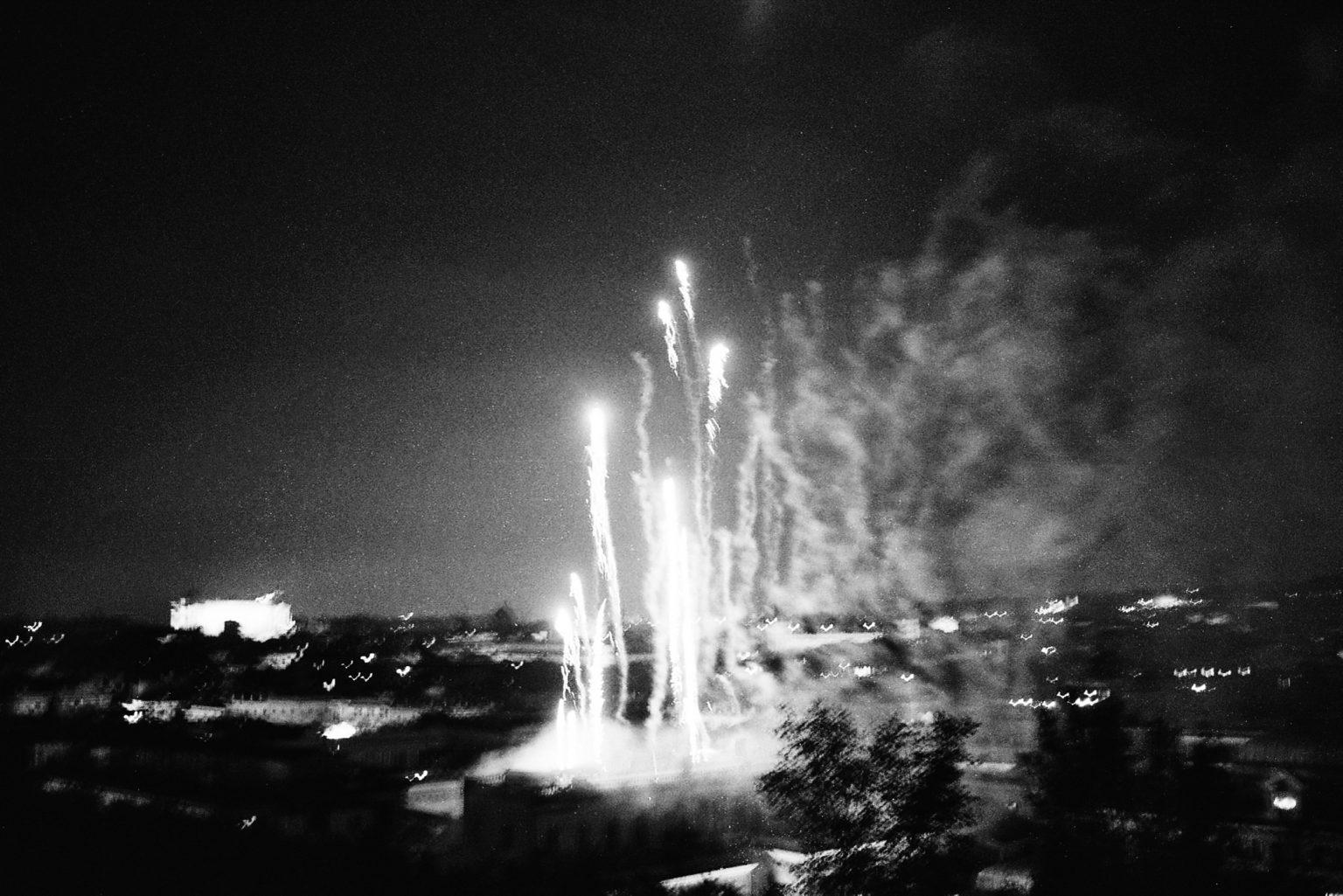 """Rome, 2010- """"Rome Diary"""" ( Rome 2007-2020) is a long-term research that documents the city of Rome through stories of places and people. An investigation into different worlds, in a society where relationships, loneliness, abuse, love, nightlife, music and artists are explored, and finally the relationship between people and the city.Fireworks in the hystorical center. .>< Rome, 2010 -Rome Diary Rome (2007-2020) è una ricerca a lungo termine che documenta la città di Roma attraverso storie di luoghi e  di persone. Un'indagine in mondi diversi, in una società in cui si esplorano le relazioni, la solitudine, gli abusi, l'amore, la vita notturna , la musica e gli artisti, ed infine il rapporto tra persone e città. Fuochi d'artificio nel centro storico."""
