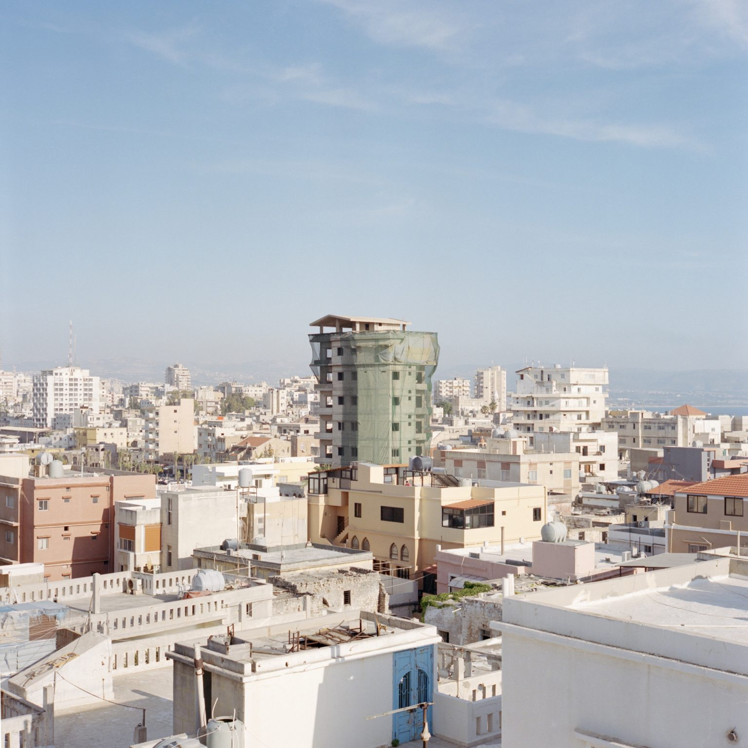 Tyre, Lebanon. Buildings in the center of the city.