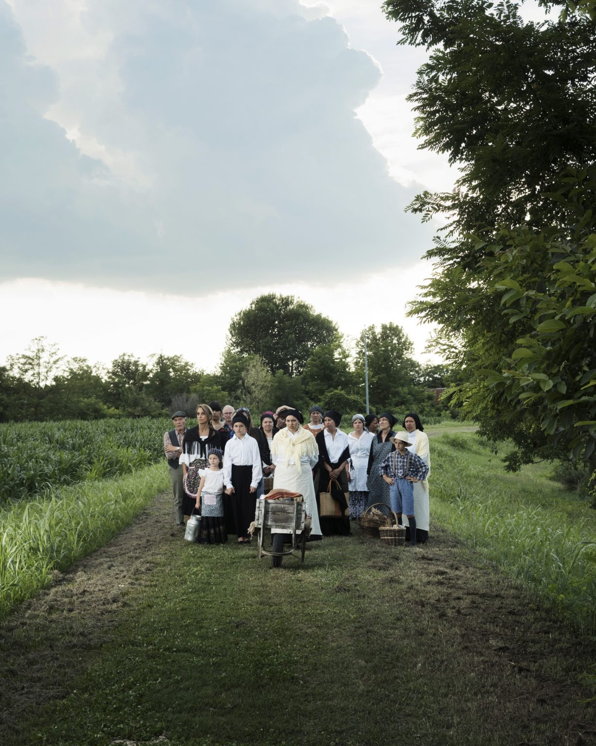 Breda di Piave (Treviso), Italy. First World War reenactment on the banks of the Piave river. Displaced persons re enactors.