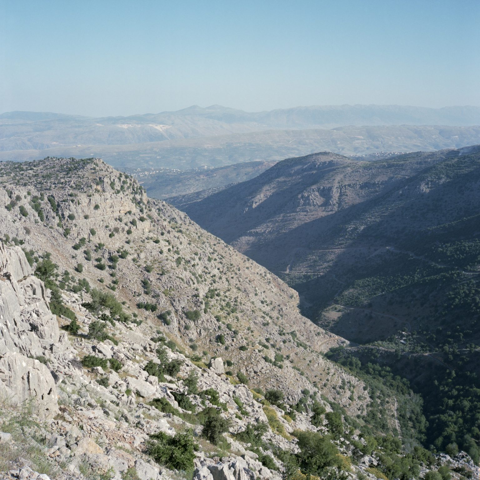 Shebaa, Lebanon. A view from the cliff near the Shebaa farms, occupied by Israel.