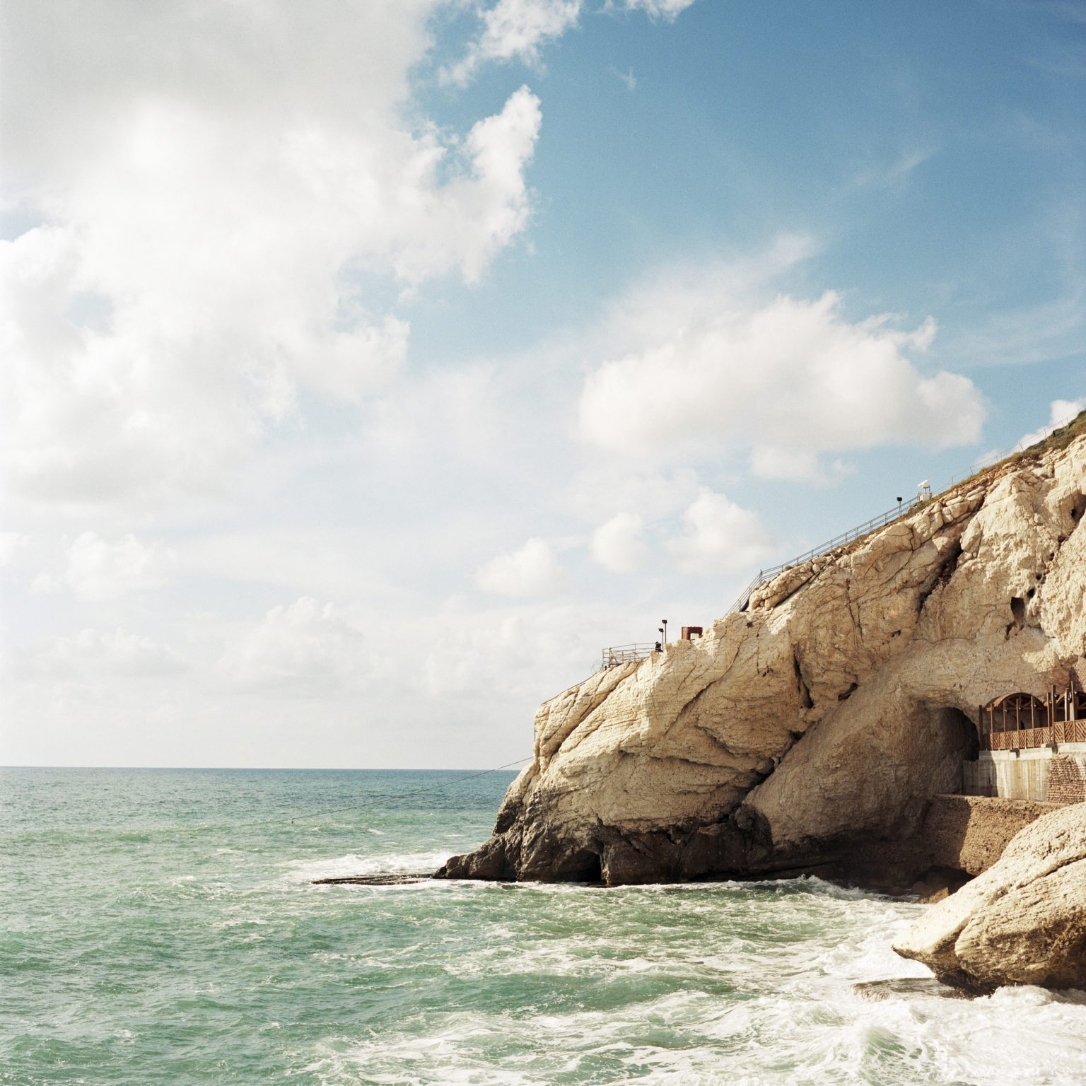 Rosh Hanikra, Israel. The Rosh Hanikra cape, the extreme point of Israeli territory on the sea before Lebanon.